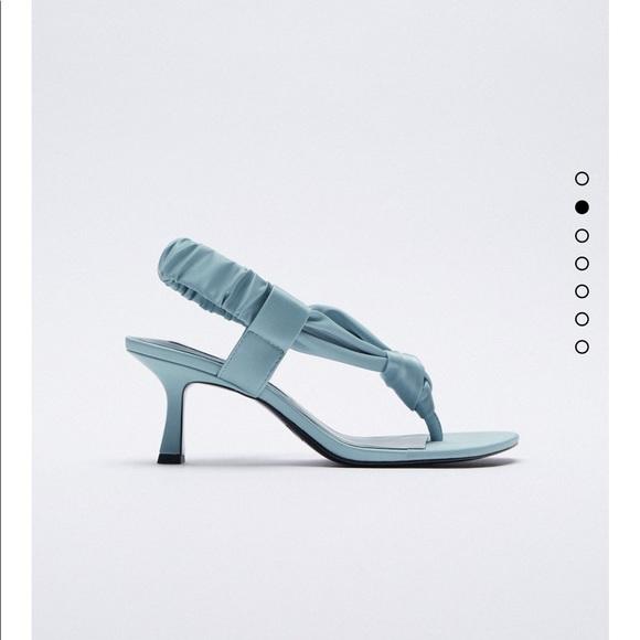 Zara high heels sandals bloggers fav